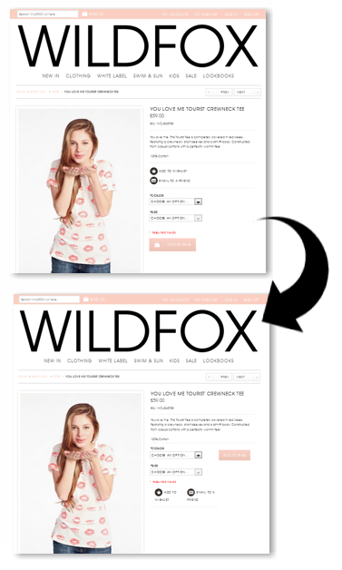 Wildfox before and after