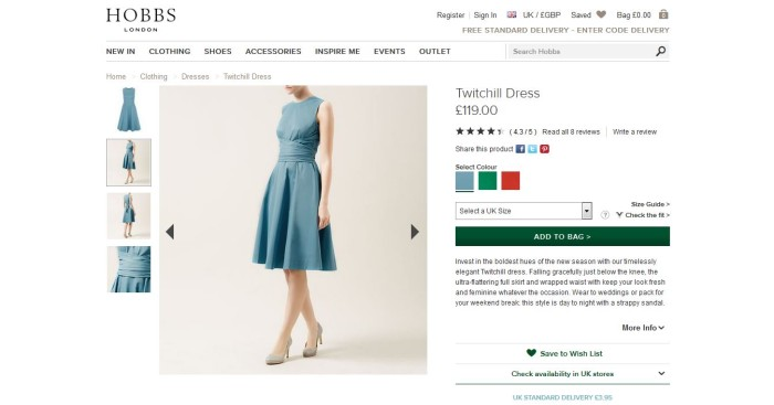 Hit Search blog Hobbs CRO review customer journey fashion ecommerce retail