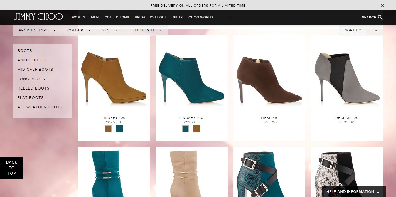 Jimmy Choo product page
