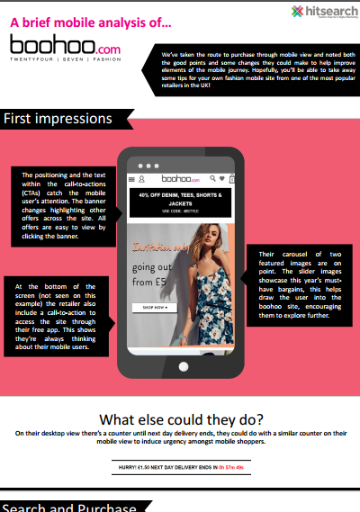 A brief mobile analysis of boohoo.com