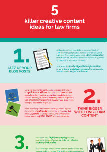 Infographic - 5 killer creative content ideas for your law firm