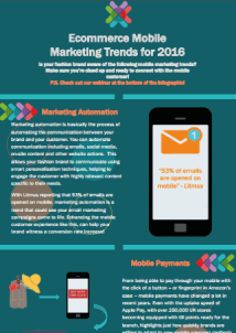 [INFOGRAPHIC] Ecommerce Mobile Marketing Trends for 2016