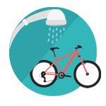 Free Showers and Bike Storage