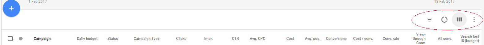 New icons in Google AdWords