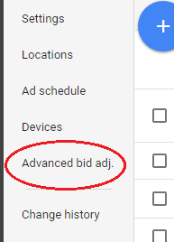 Potential new optimisation feature on Google AdWords, 'advanced bid adjustments'