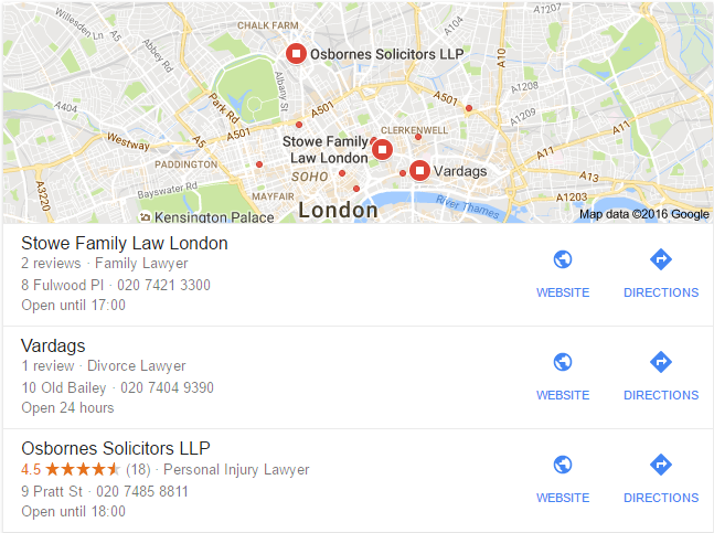 lawyers in london search results