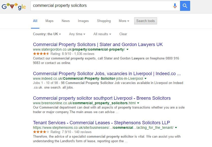 commercial property search results