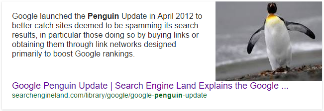 Google Penguin Update 2012