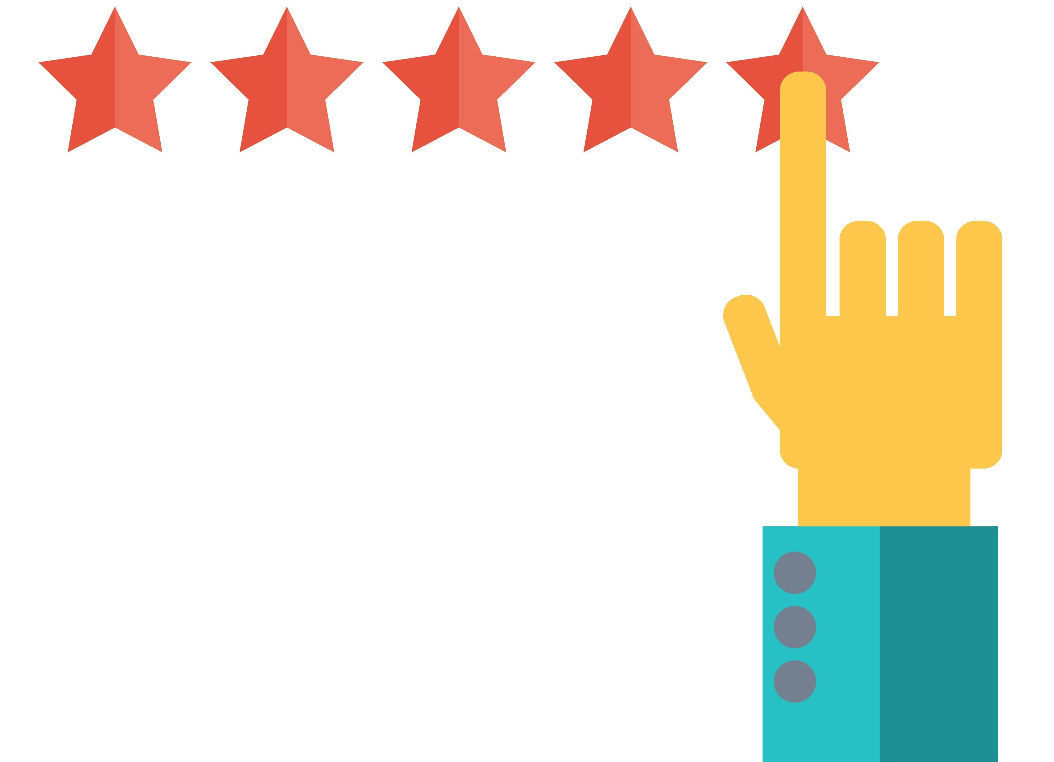 Star ratings in organic search results