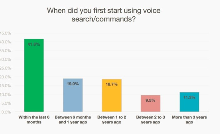when did you first start using voice search commands?