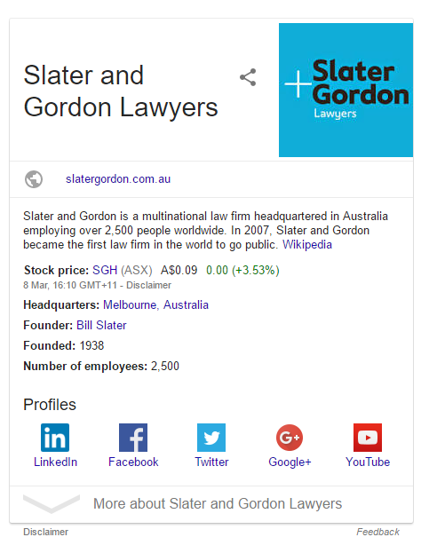 example for a knowledge graph card
