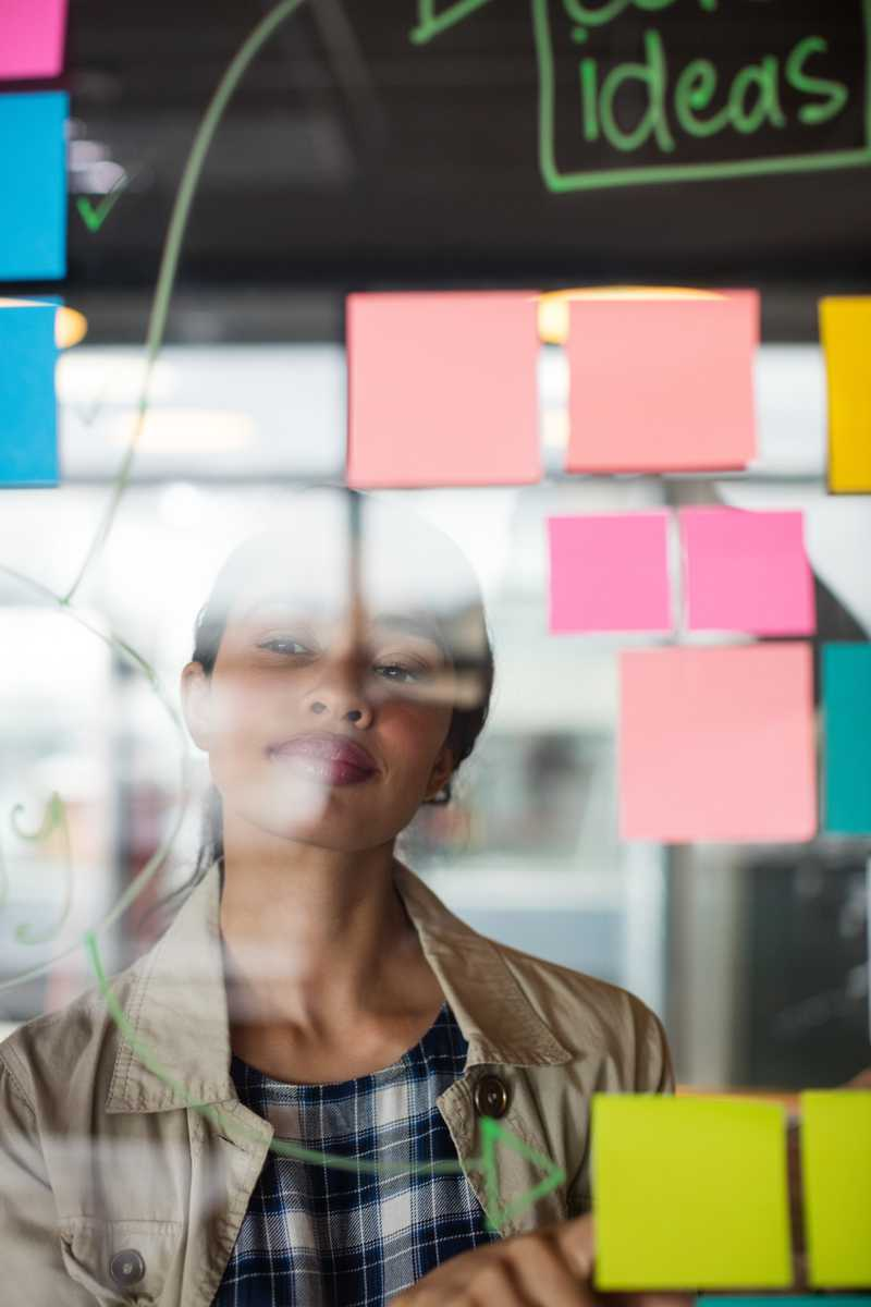 stock-photo-male-and-female-executives-looking-at-sticky-notes-in-office-637271911