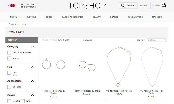 Topshop user experience
